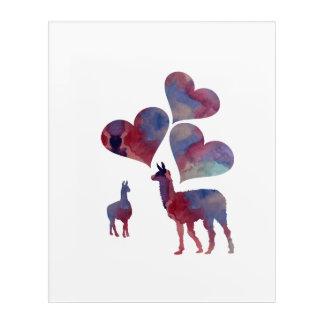 Romantic Llama Art