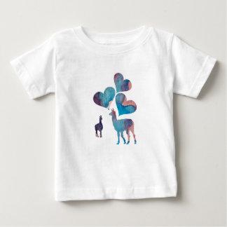 Romantic Llama Art Baby T-Shirt