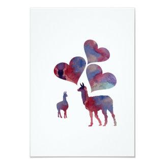 Romantic Llama Art Card