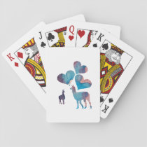 Romantic Llama Art Playing Cards