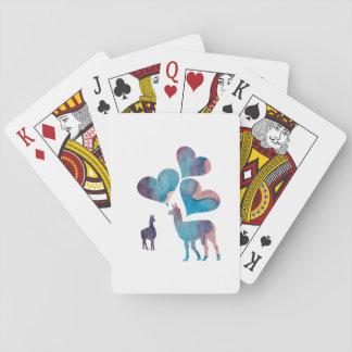 Romantic Llama Art Playing Cards