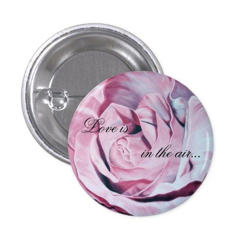 Romantic Love Air Rose Pink Button