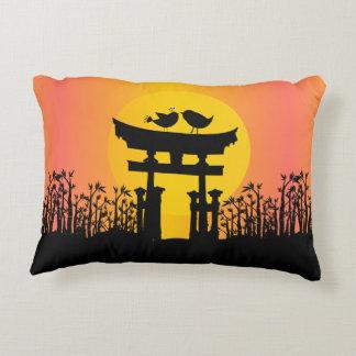 Romantic Love birds at sunset Decorative Pillow