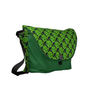 Romantic Love Green Glitter Roses Messenger Bag