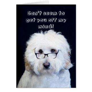 ROMANTIC/LOVE - HUMOR W/DOG/BLACK-RIM GLASSES CARD