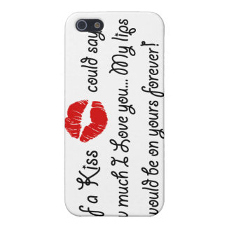 Romantic Love Kiss Quote Kissing Romance quotation Cover For iPhone 5