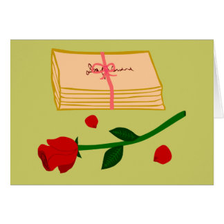 Romantic Love Letters Greeting Cards