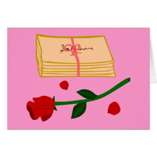 Romantic Love Letters Greeting Card