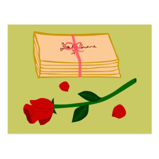 Romantic Love Letters Post Card