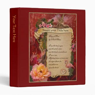 Romantic Love Poem 3 Ring Binder