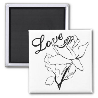 Romantic Love Roses Refrigerator Magnets