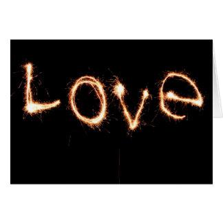 Romantic Love Sparklers Valentine's Day Card