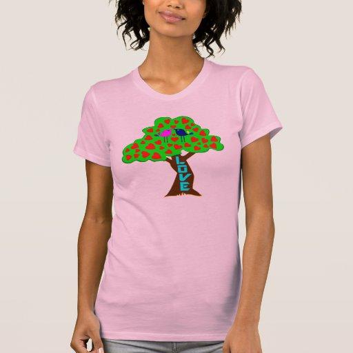 °•♥Romantic Love Tree American Apparel T♥•° Shirts