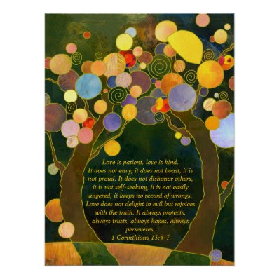 Romantic Love Trees Wedding Keepsake | Ceremony Poster