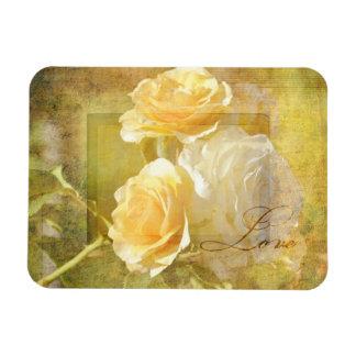 Romantic Love Yellow Roses Magnet