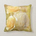Romantic Love Yellow Roses Pillows