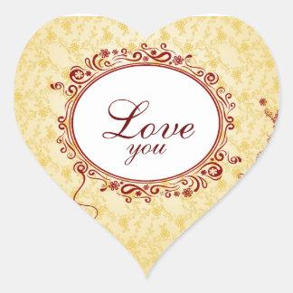 Romantic Love You Heart Sticker