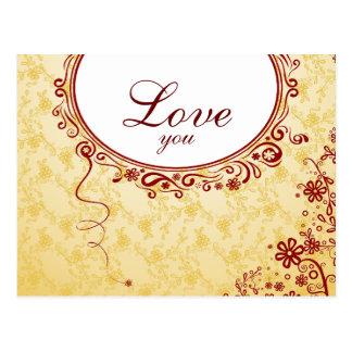 Romantic Love You Postcard