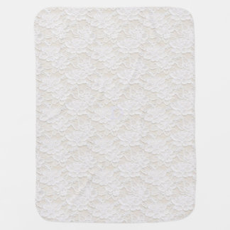 Romantic Lovely White Floral Lace Baby Blanket