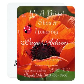 Romantic luck ladybug Bridal Shower Destiny Card