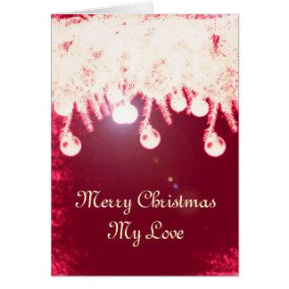 Romantic Magical Christmas Card
