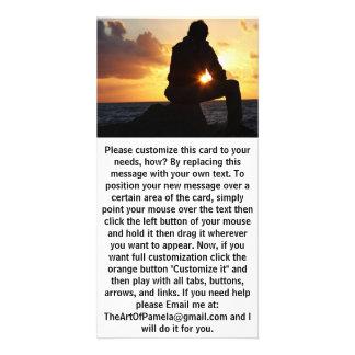 Romantic Man at Sunset Card