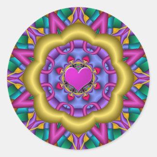 Romantic Mandala sticker with Heart