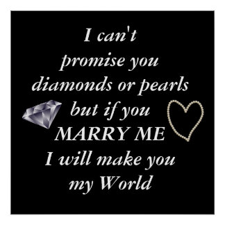 Romantic Marry Me Poem Poster