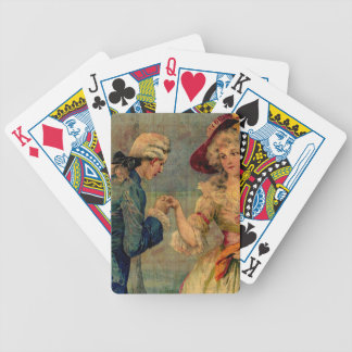 Romantic Meeting Bicycle Playing Cards