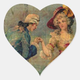 Romantic Meeting Heart Sticker