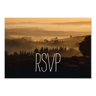 Romantic Misty Mountains Rustic Wedding RSVP Cards