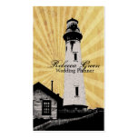 Romantic modern elegant Lighthouse beach fashion Double-Sided Standard Business Cards (Pack Of 100)