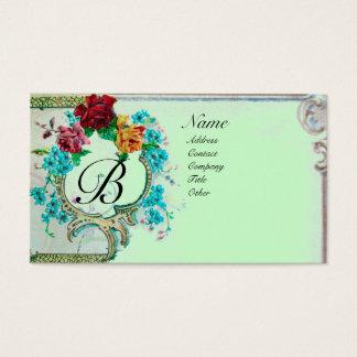 ROMANTIC MONOGRAM 3 BUSINESS CARD