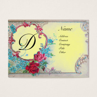 ROMANTIC MONOGRAM BUSINESS CARD