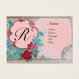 ROMANTIC MONOGRAM BUSINESS CARD