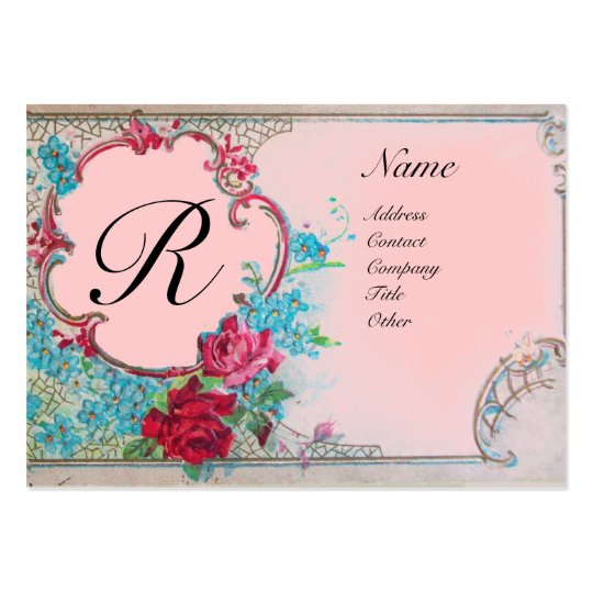 ROMANTIC MONOGRAM LARGE BUSINESS CARD