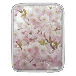 Romantic Mood - Soft Tones, Cherry Blossoms iPad Sleeves