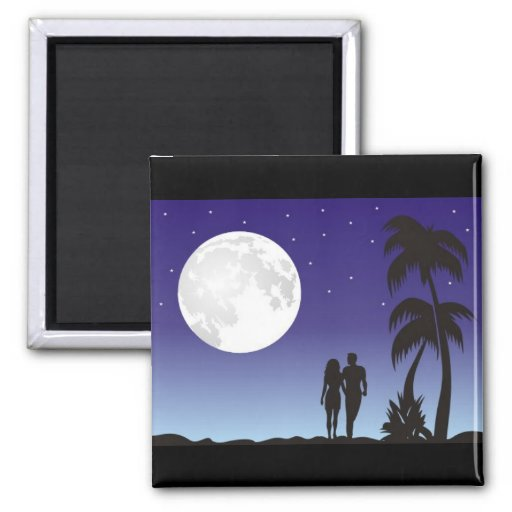 romantic_moon fridge magnet