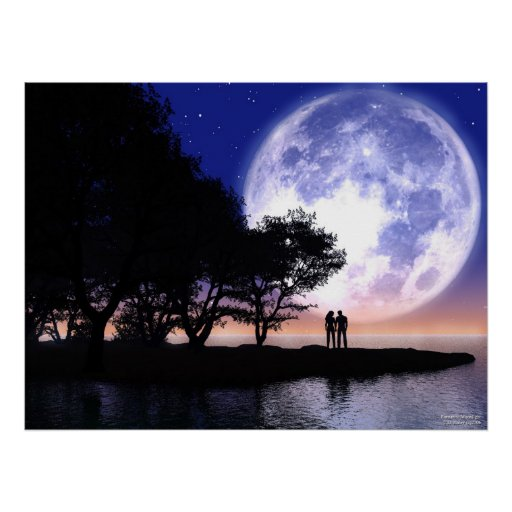 Romantic Moonlight Posters