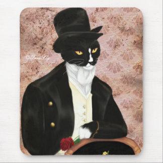 Romantic Mr Darcy Cat mousepad