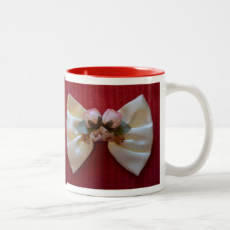 Romantic Mug with White Bow Tie