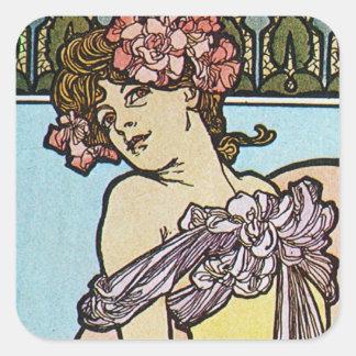 Romantic Muse Square Sticker