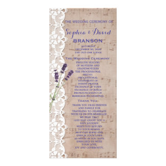 Romantic Music Sheet Lavender Program Custom