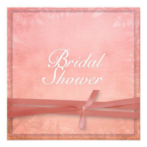 Romantic Natural Ribbon Look Bridal Shower Personalized Invite