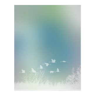 Romantic Nature and Bird Design Letterhead
