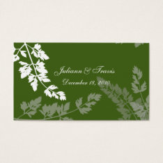 Romantic Nature/ Seating Card at Zazzle