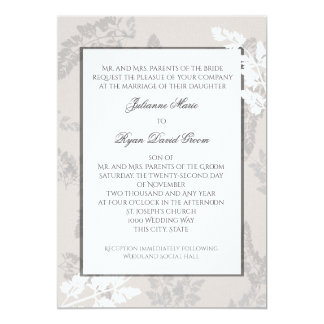 Romantic Nature Silver Wedding Card
