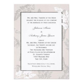 Romantic Nature Silver Wedding 5.5x7.5 Paper Invitation Card