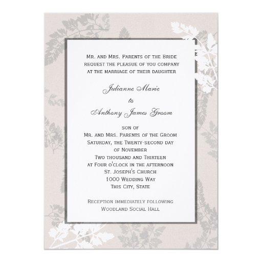 Romantic Nature Silver Wedding Invitation