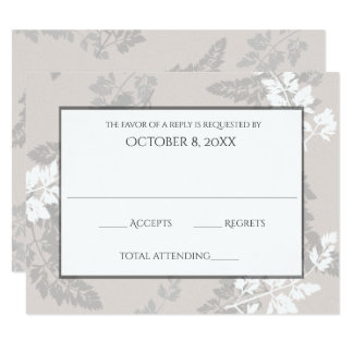 Romantic Nature Silver Wedding Response Card